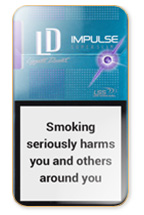 LD Impulse Super Slims Purple Cigarette Pack