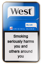 West Blue Cigarette Pack