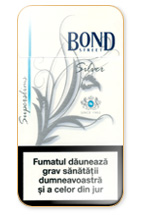Bond Super Slims Silver 100's Cigarette Pack