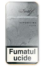 Davidoff Super Slims Silver Cigarette Pack