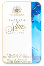 Karelia Slims Lights (Blue) 100`s Cigarette Pack