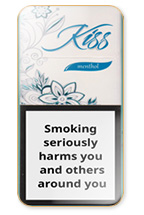 Kiss Super Slims Menthol 100's Cigarette Pack