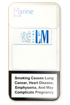 L&M MIXX BLue Marin Super Slims Cigarette Pack