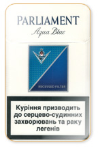 Parliament Lights (Aqua Blue) Cigarette Pack