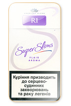 R1 Super Slims Flair Aroma 100's Cigarette Pack