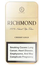 Richmond Cherry Gold Super Slims 100s Cigarette Pack