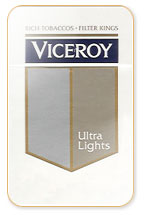 Viceroy Ultra Lights (Silver) Cigarette Pack