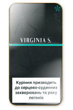 Virginia S. Menthol Super Slims 100's Cigarette Pack