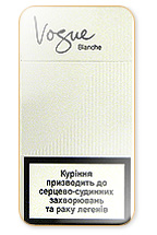 Vogue Super Slims Blanche 100's Cigarette Pack