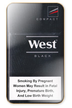 West Black Compact Cigarette Pack