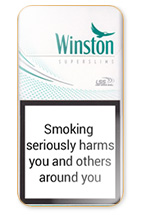 Winston Super Slims Fresh Menthol 100s Cigarette Pack
